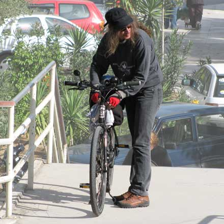 Sunny Biker on a Sunny Bike